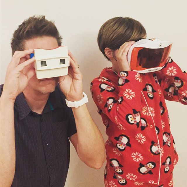 Two generations of View-Master in the house! #wkbnch